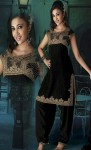 Black-Pure-Chiffon-Wedding-Salwar-Kameez-Embroided-Neck-Design