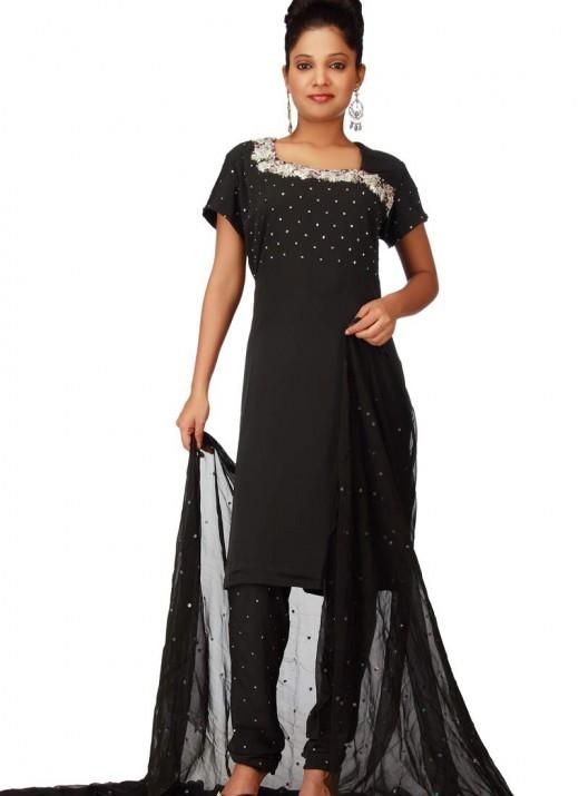 Black salwar kameez designs for How to design salwar kameez at home