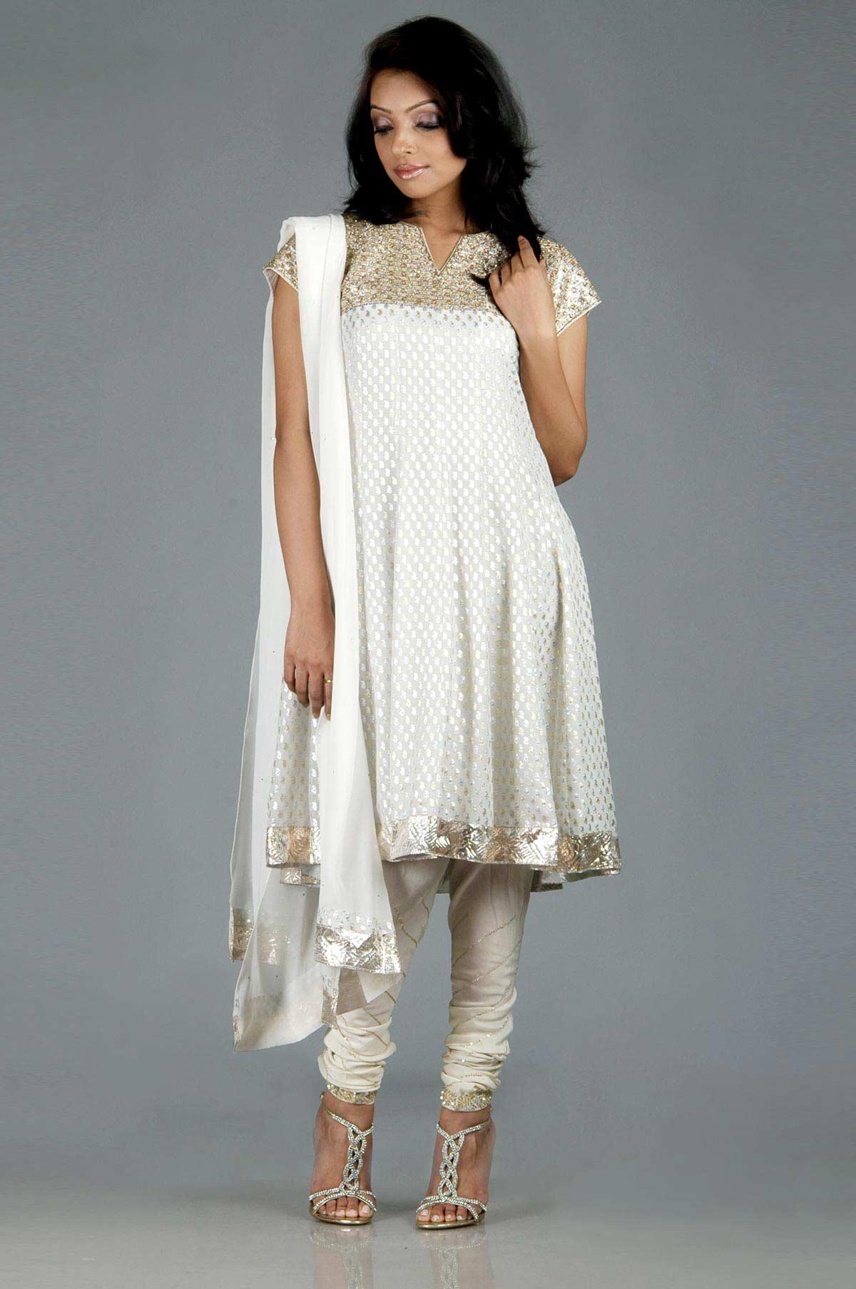 Latest White Salwar Kameez Designs Sheclick Com