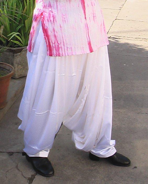 Patiala Salwar White Satin Silk Sheclick Com