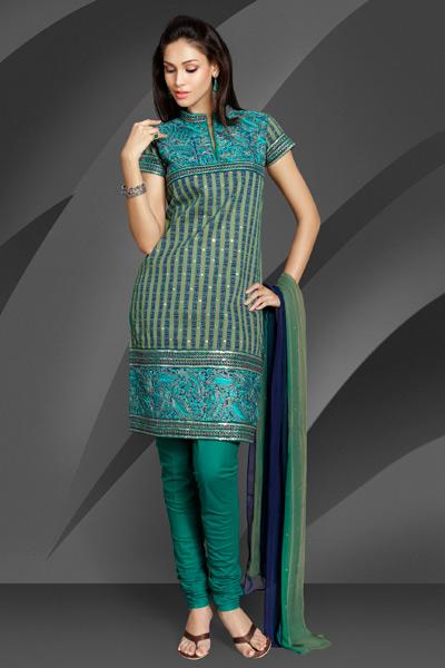 Splendid Churidar Kameez Salwar Suit For Healthy Fat Girls