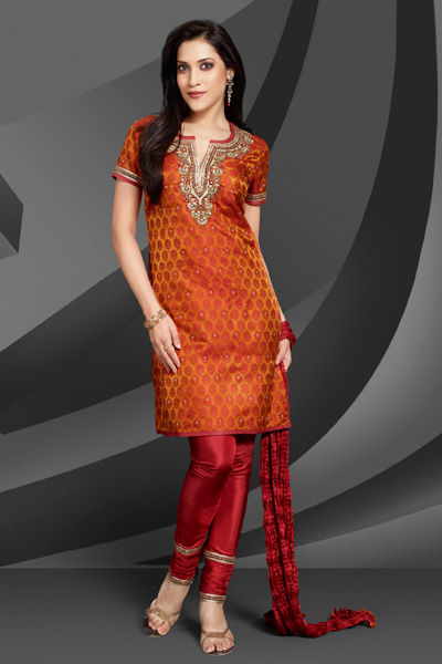 Vibrant Churidar Salwar Kameez Suit For Sexy Girls