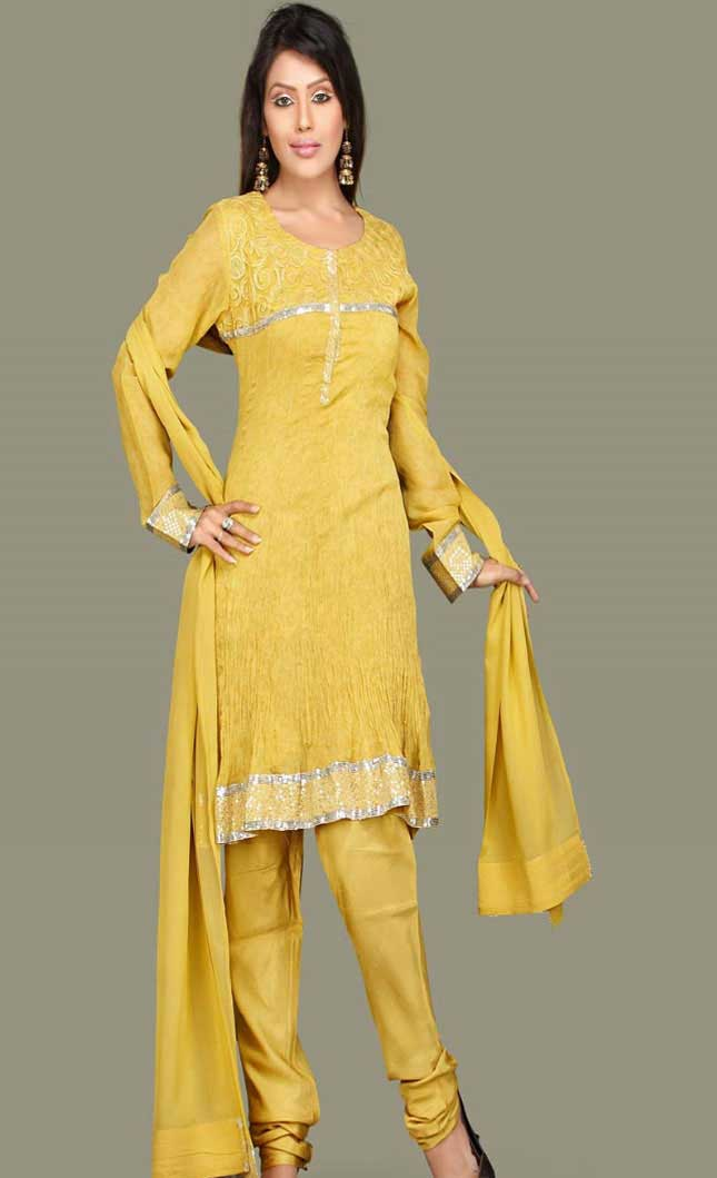 Yellow Salwar Kameez Photo Gallery