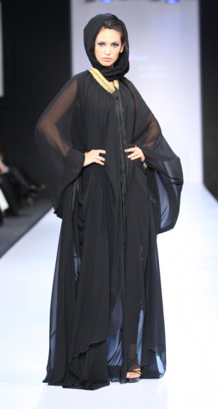 abaya and hijab styles at dubai fashion week 2010