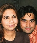 Hamayun Saeed With Wife Samina