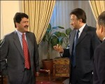 Hamid Mir with Musharraf