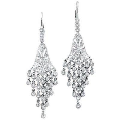 Long Diamond Chandelier Earrings Sheclick Com