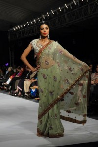 Wlema Dress Saree Sea Green Color