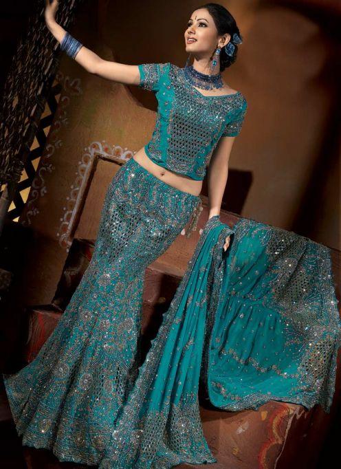 Bridal Lehenga with Heavy Dupatta Designs Dupatta Fashion