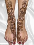 Dulhan Mehndi Designs for Leg
