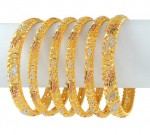 Gold Bangles Designs Pics