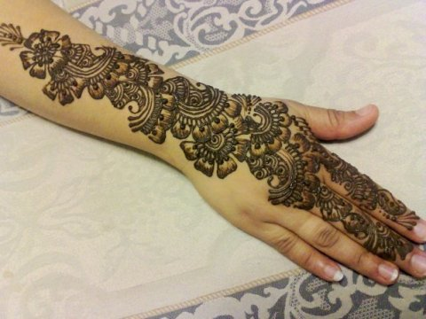 Unique Back Hand Mehndi Designs - mehndi art