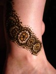 Anklet Mehendi Designs for on Feet