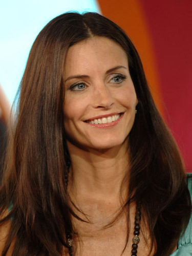 Courtney Cox Straight Hairstyle