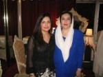 Dr Fazeela Abbasi with Benazir Bhutto
