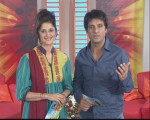 Sahiba and Rambo Hosting  Apna Show