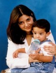 Nazia Hassan with Her Son