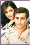 Rabi Peerzada with Her Husband