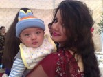 Rabi Pirzada with Her Son
