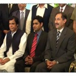 Abrar Ul Haq with Chaudhry Pervaiz Elahi and Khalid Maqbool