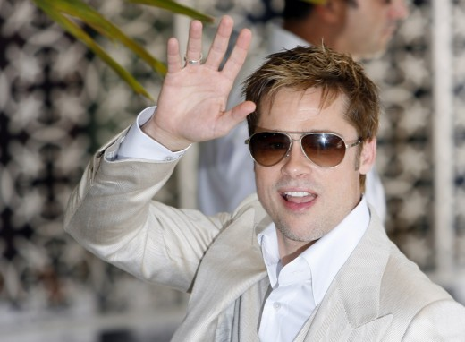 Brad Pitt Acne Scars. Brad Pitt Hollywood Actor and