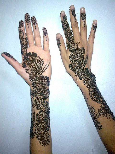 Full Arm Henna Designs: Cute Mehndi Designs On Full Arm Image
