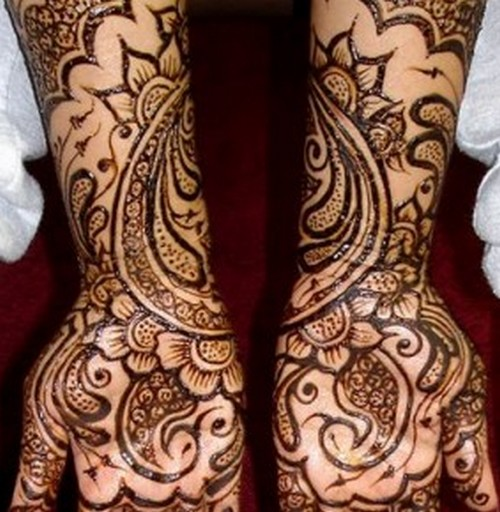 Full Arm Mehndi : Mehndi design on full arms creative concepts