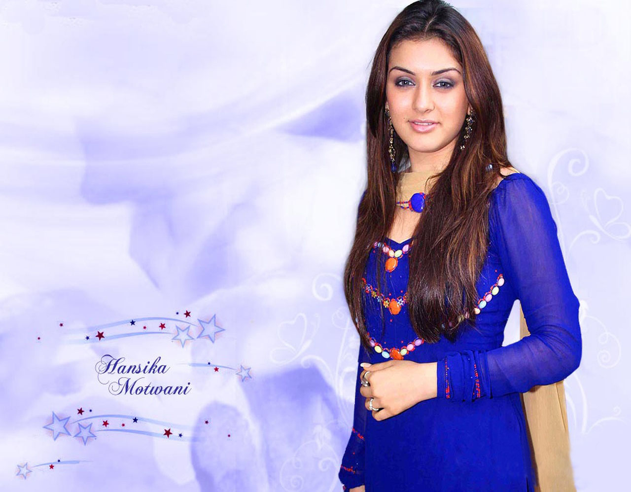 Hansika Motwani Blue Dress Snap