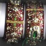 Kundan Meena Jadau Bangles 150x150 - Kundan Bangles Jewellery and Most Wanted Designs