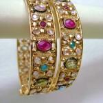 Kundan Polki Bangles 150x150 - Kundan Bangles Jewellery and Most Wanted Designs