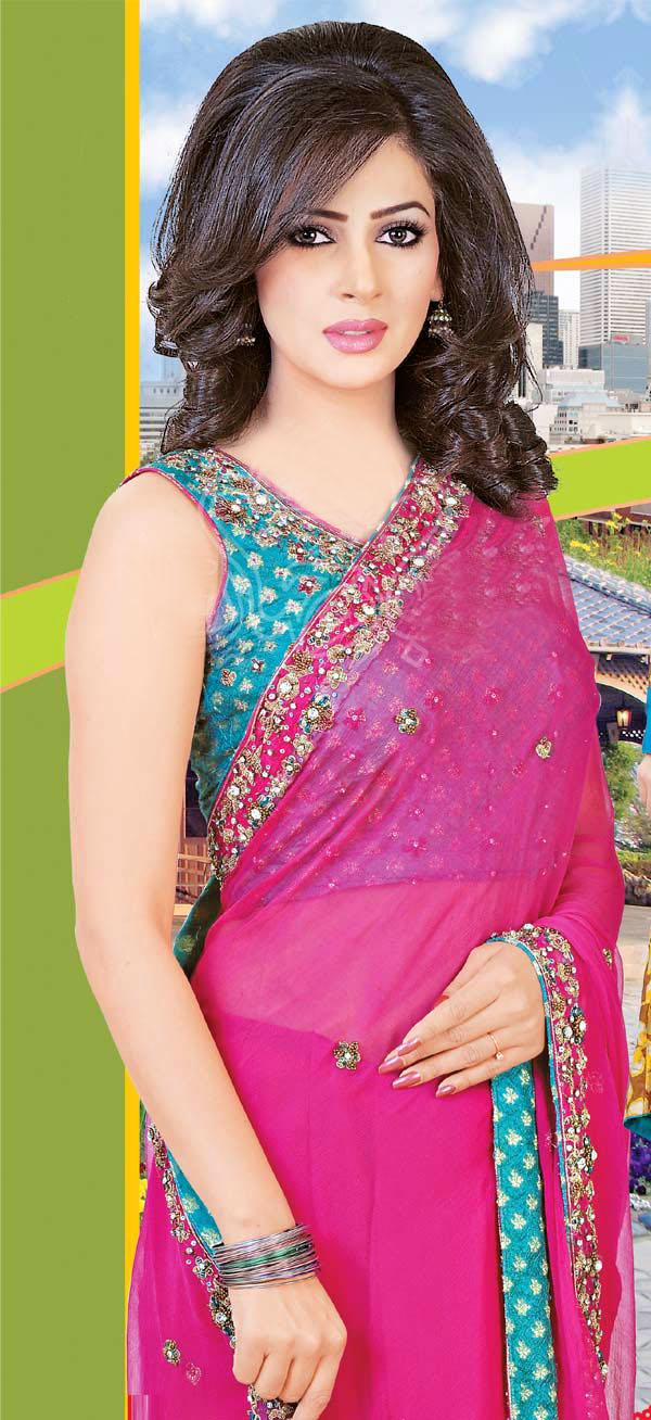 Saba Qamar Saree Fashion Modeling Sheclick Com