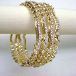 Set of Stone Studded Bangles 150x150 - Kundan Bangles Jewellery and Most Wanted Designs