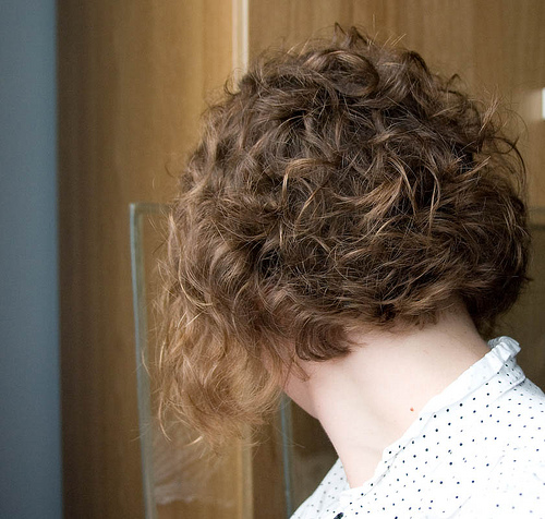 Celebrity Short Bob Hairstyles: Short Curly Layered Bob Haircut