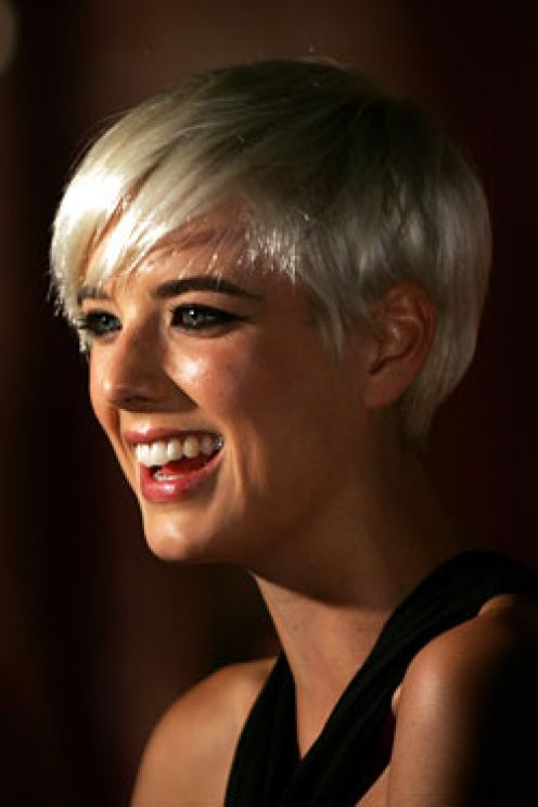 White Color Pixie Hairstyles Images Sheclick Com