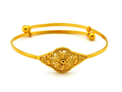 Elegant Gold Bracelets with Beautiful Enamel for Wedding - Women Gold Bracelets For 2011 – Ultimate Designs Collection