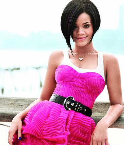 rihanna hot pink dress. Fashionable Rihanna in Pink
