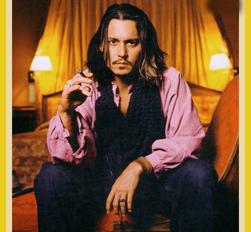 Johnny Depp Long Hairstyle Picture Sheclick Com