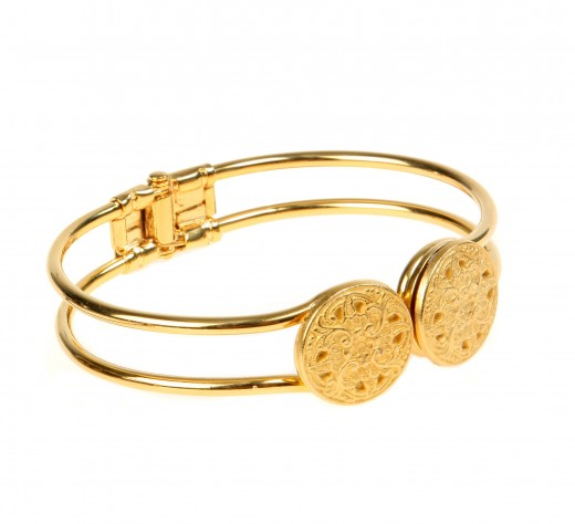 Latest Gold Plated Vintage Button Bracelet for 2011 520x474 - Women Gold Bracelets For 2011 – Ultimate Designs Collection