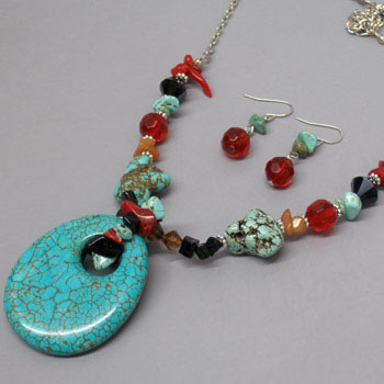 Multi Color Gemstone Jewelry Set for College Girls - Absolute Gemstone Jewelry Designs For Girls