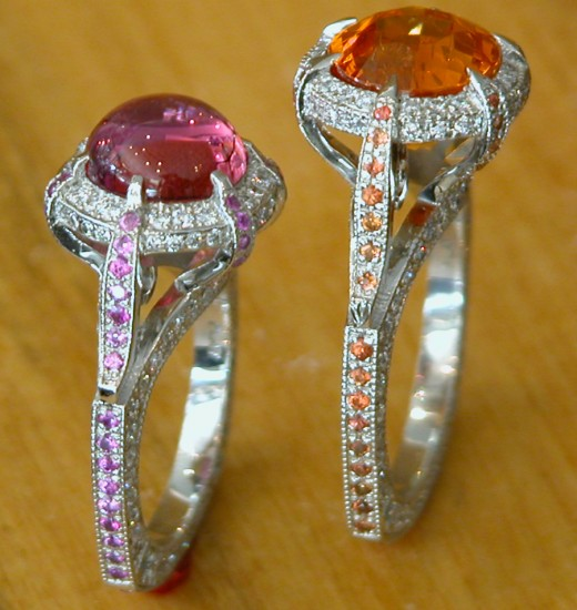 Orange Moonstone Fashion Ring for Wedding 2011 520x550 - Latest Fashion Rings: Remarkable Designs Collection