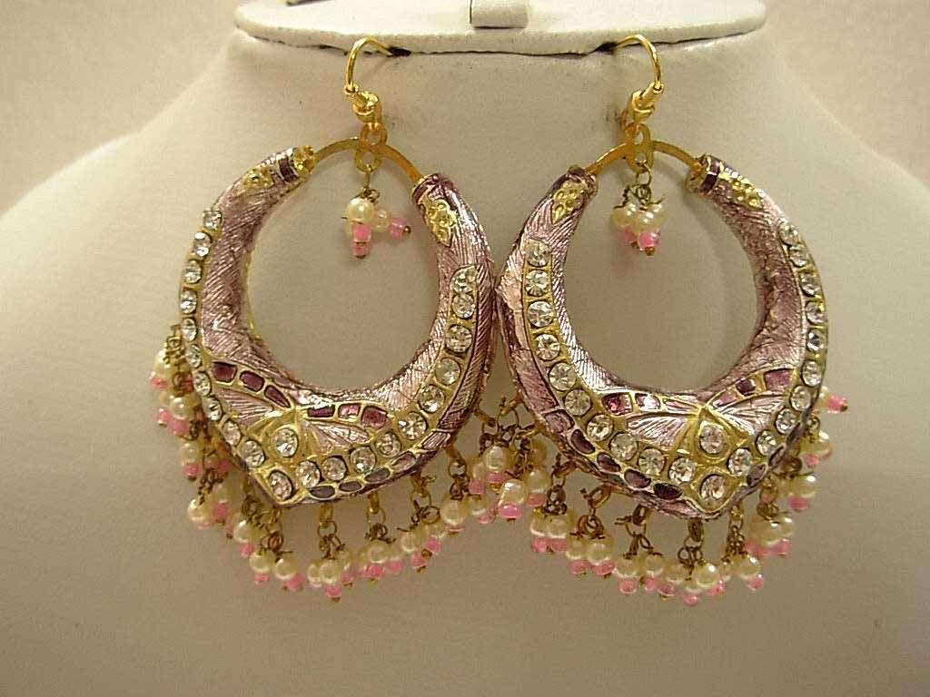 Pink Earrings For Girls Pink New Lakh Earrings...