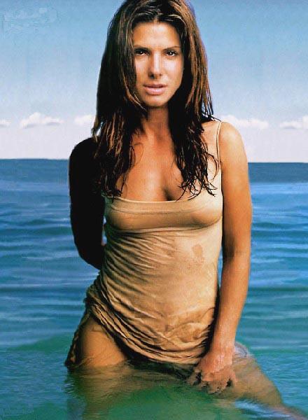 sandra bullock bikini style swimming dress   sheclick