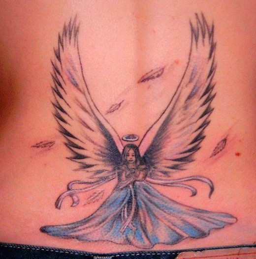 30 Beautiful Angel Tattoos For Girls: Most Beautiful Angel Tattoo Designs For 2011