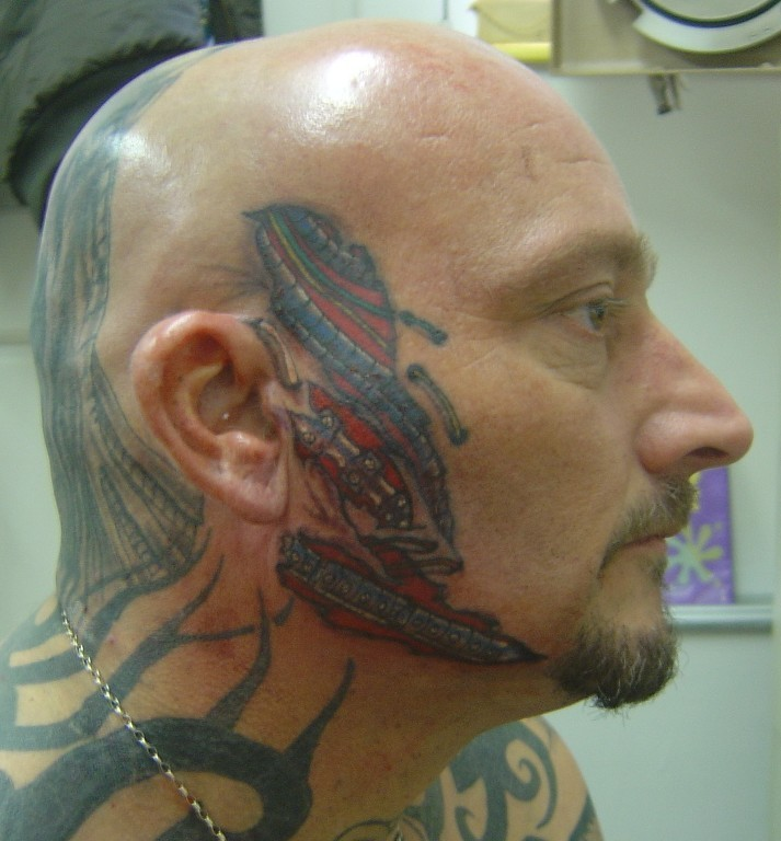 Cool Face Tattoos: Cool Face Tattoo Design For 2011