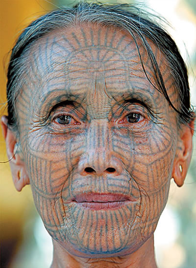 Full Face Tattoo Design For Old Women Sheclick Com