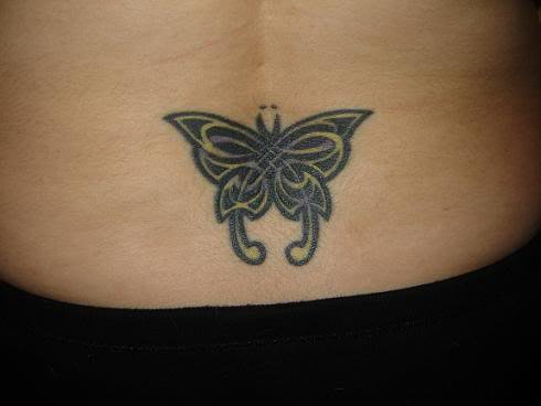 Types Of Mattresses >> Lower Back Butterfly Tattoo For Girls - SheClick.com