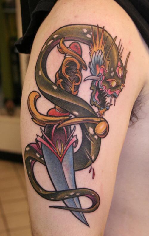 Arm Snake Tattoo Design
