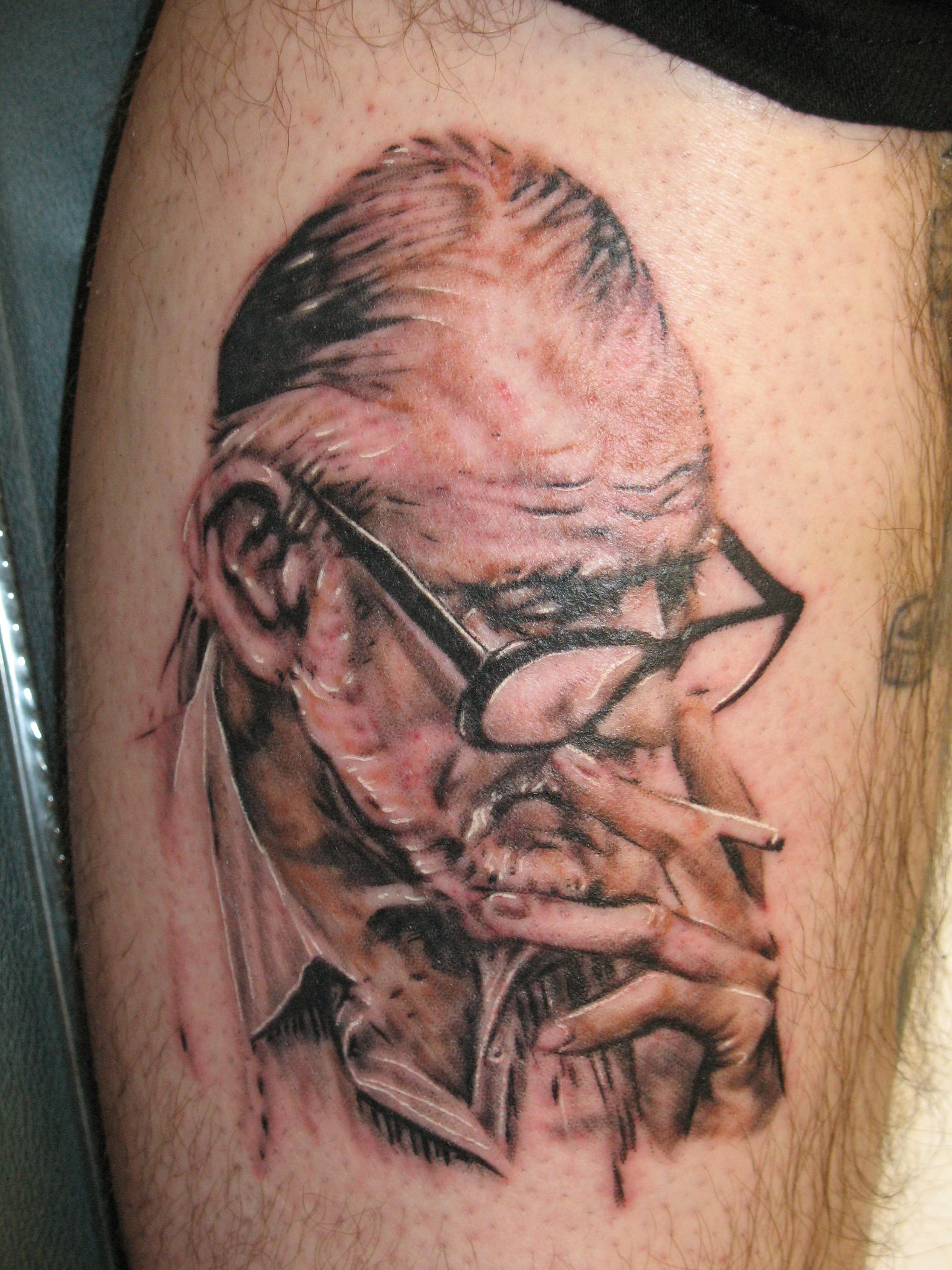 awesome zombie tattoo design for men 2011