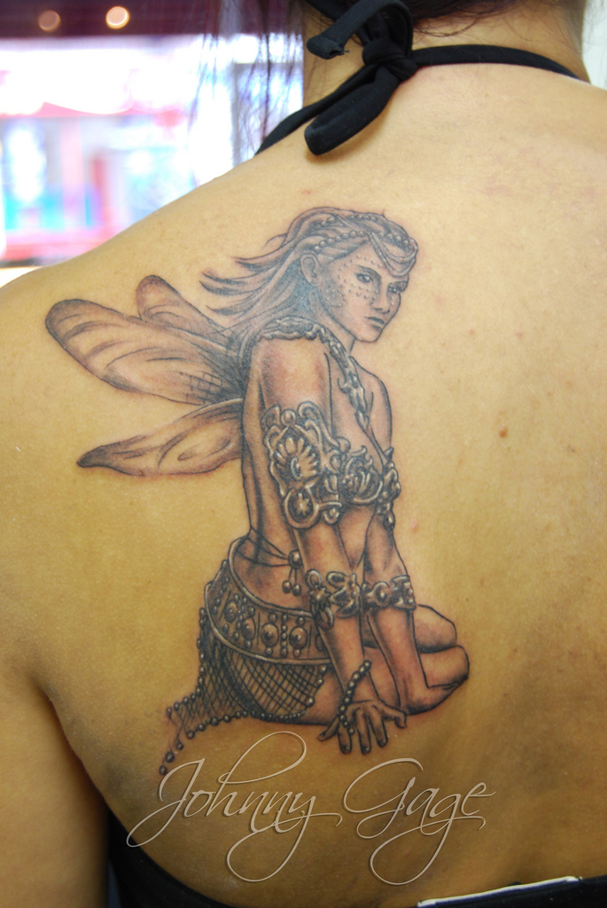 Fairy Tattoo For Girls Back