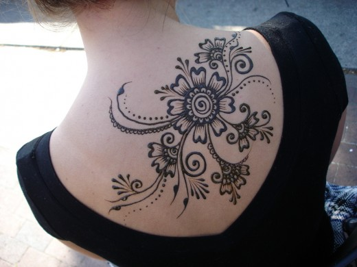 Flowery Henna Tattoo Design
